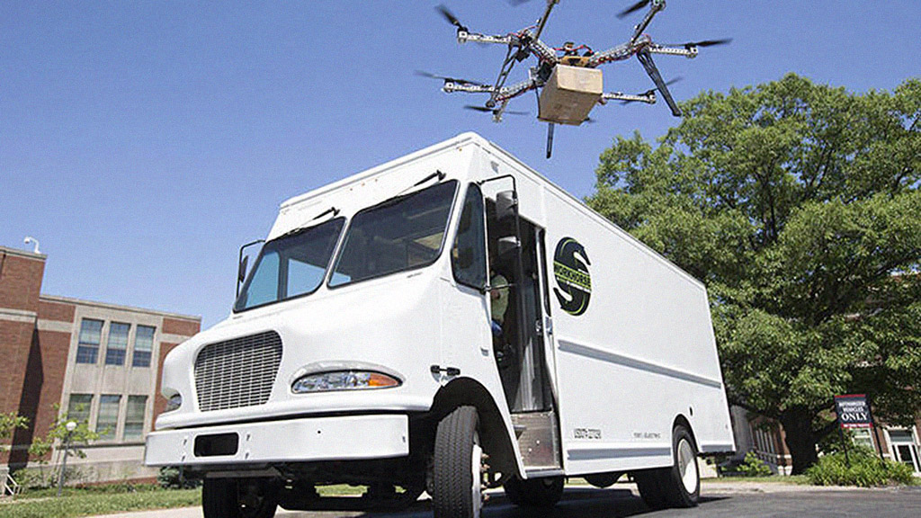 Your local delivery man may soon get a flying robotic sidekick